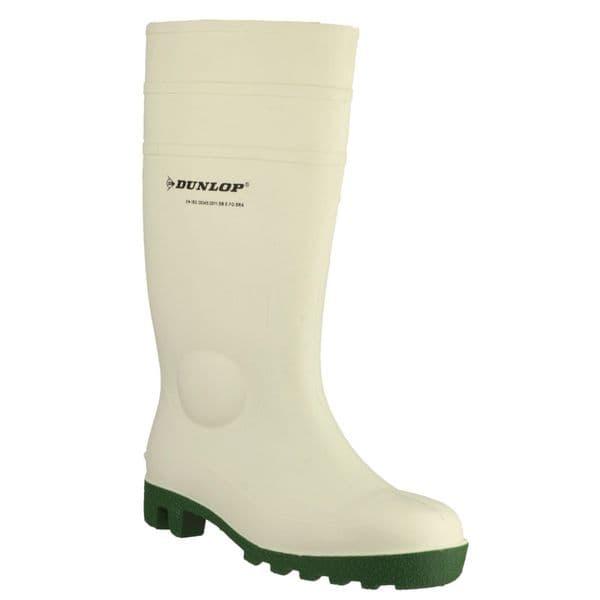 Dunlop Protomastor Safety Wellingtons White